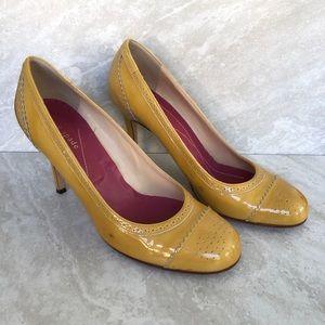 Kate Spade Shoes size 9 Mustard Yellow Brogue Heel